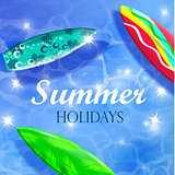 Colorful Summer Surfing Design
