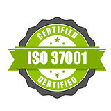 ISO 37001 standard certificate badge - Anti-bribery management s