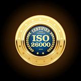 ISO 26000 standard medal - Social responsibility