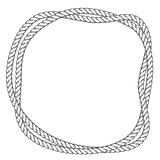 Twisted rope round frame - two interlaced ropes border