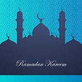 Ramadan kareem greeting card template