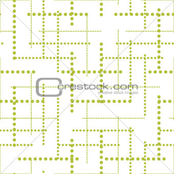 Abstract geometric dot lines seamless vector pattern.