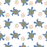 Tortoise decorative seamless vector pattern.