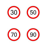 Prescribed minimum speed road sign