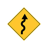 Winding Road Sign Warning