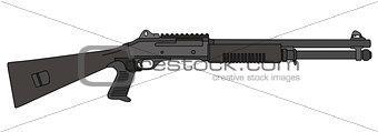 Black pump shotgun