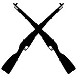 Two old military rifles