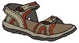 Gray sport sandal