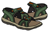 Green sport sandals