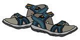 Blue sport sandals