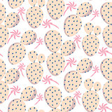 Bold soft pink cactus vector seamless pattern texture.