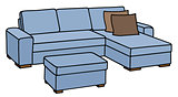 Blue big couch