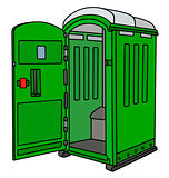 Green mobile toilet