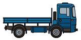 Retro blue truck