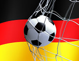 soccer ball on German flag background