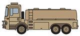 Military tank truck