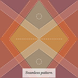 Seamless pattern. Vintage rural style. Fabric clothing, carpet or blanket.