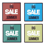 Set big sale summer banner. Vector illustration. Special offer.