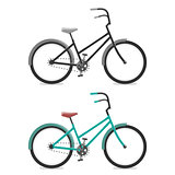 Set Bicycle on white background. Cycling concept. Vector bright illustration of Bike. Trendy style for graphic design, logo, Web site, social media, user interface, mobile app.