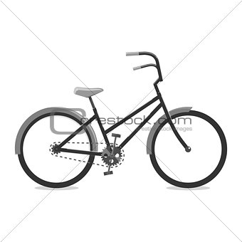 Cycling black. Vector illustration of a Bicycle. For graphic design, logo, web site, social media, user interface, mobile application.