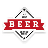 Ice cold Beer vintage stamp