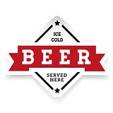 Ice cold Beer vintage stamp