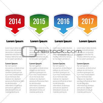 Four Year progress bar template
