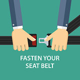 Hands locking seat belt