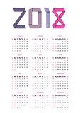 The 2018 calendar