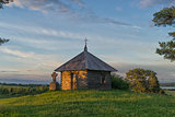 Old chapel at sunset