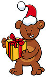 bear with gift on Christmas time