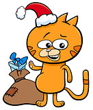kitten on Christmas time cartoon