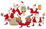 christmas santa claus group illustration