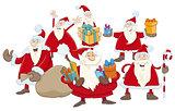 christmas santa claus group illustration
