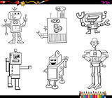 robot characters coloring book