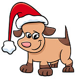 puppy on Christmas cartoon