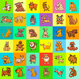 cartoon dogs pattern design