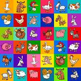 pattern design with cartoon farm animals