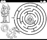 fairy tale maze coloring page