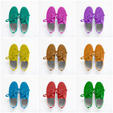 Collage of colorful shoes