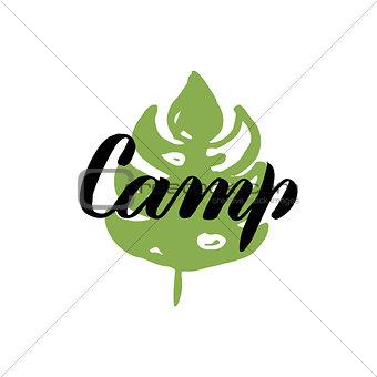 Camp Leaf Calligraphy