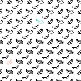 Banana Brush Seamless Pattern