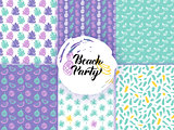 Beach Summer Funky Seamless Patterns