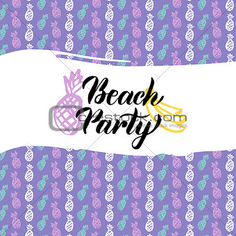 Beach Party Postcard Design