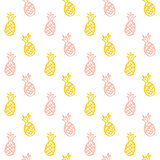 Brush Pineapple Seamless Pattern