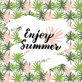 Enjoy Summer Handwritten Card