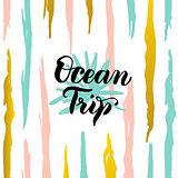 Ocean Trip Card
