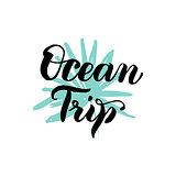 Ocean Trip Lettering