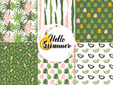 Summer Nature Seamless Patterns