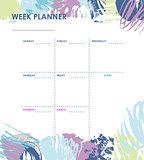 Weekly planner design